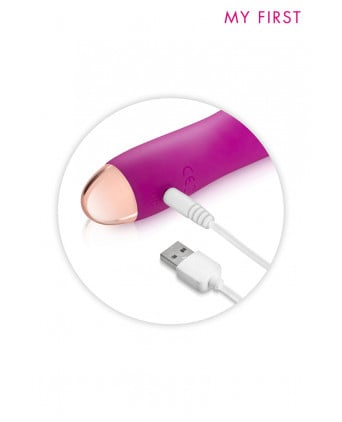Vibromasseur rechargeable Twig rose - My First - Vibromasseurs