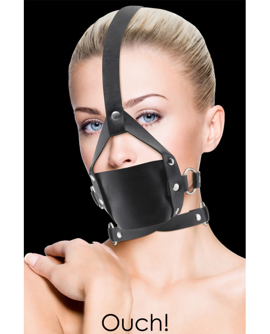 Baillon Leather Mouth Gag - Ouch - Baillons, gagballs