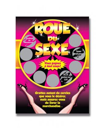 Carte à gratter roue du sexe - Jeux coquins