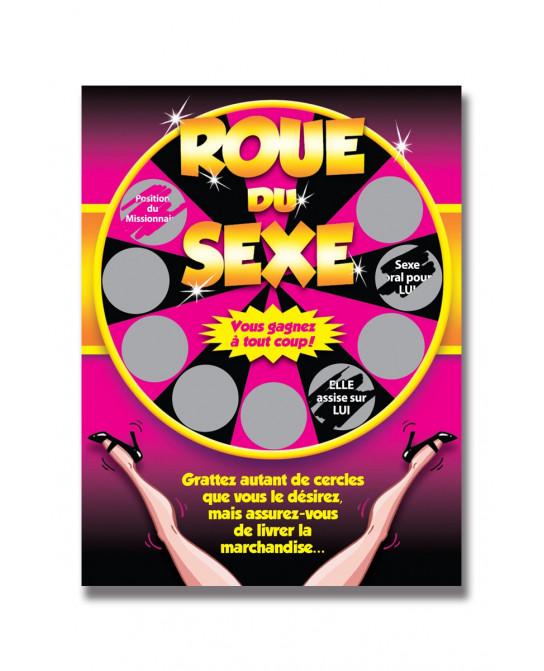 Carte à gratter roue du sexe - Jeux couple