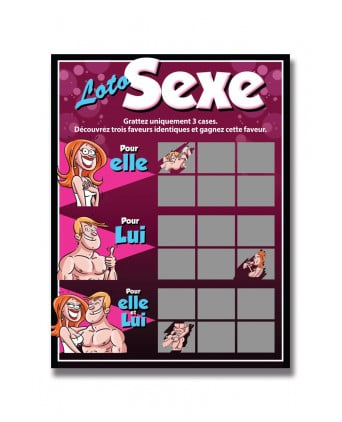 Carte à gratter Loto sexe - Jeux couple