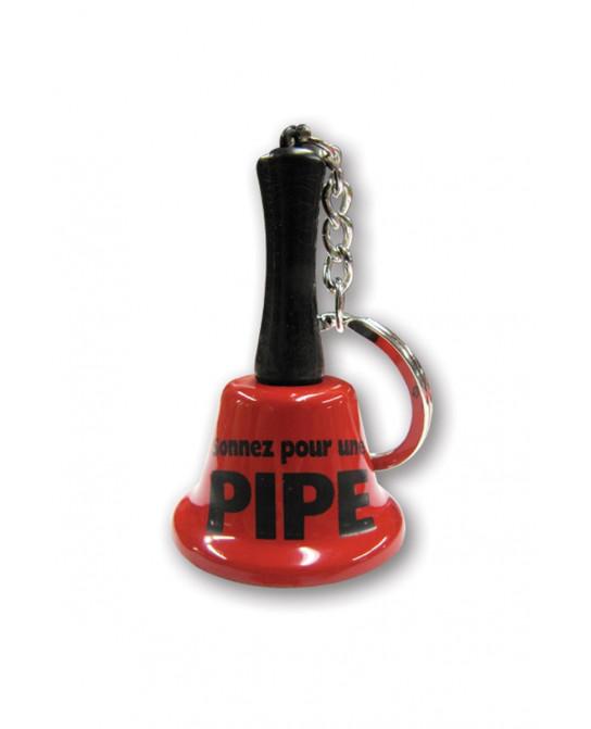 Porte clé clochette - sonnez pour une pipe - Accessoires coquins