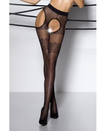 Collants ouverts TI002 - noir - Lingerie femme