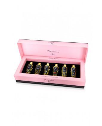 Coffret 6 huiles de massage sèches - Plaisir Secret - Massages érotiques