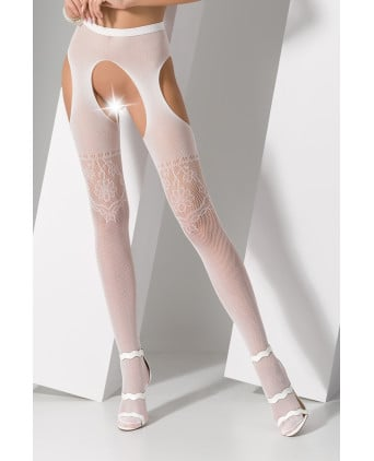 Collants ouverts S017 - Blanc - Collants, bas