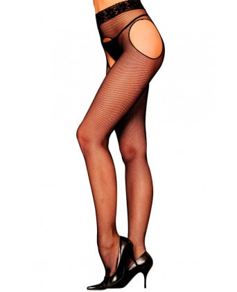 Collant ouvert noir Morgan - Collants, bas