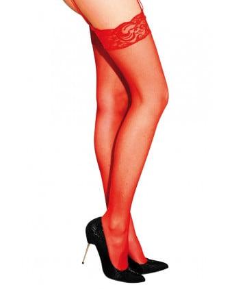 Bas classiques en voile rouge - Anne d'Ales - Collants, bas