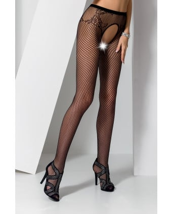 Collants ouverts S019 - Noir - Collants, bas