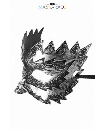 Masque semi-rigide argenté Don Giovanni - Cagoules, masques