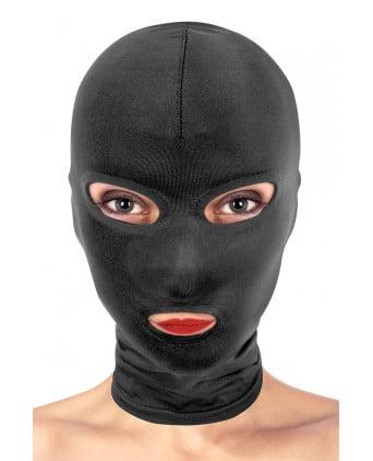 Cagoule BDSM 3 ouvertures - Fetish Tentation - Cagoules, masques