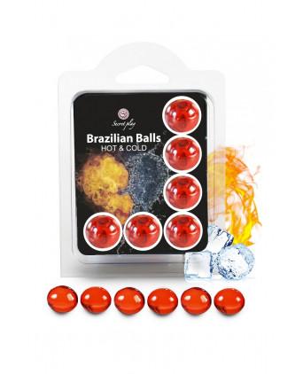 6 Brazillian balls effet chaud & froid - Busyx Bien être