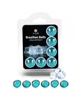 6 Brazilian Balls - effet frais - Lubrifiants intimes