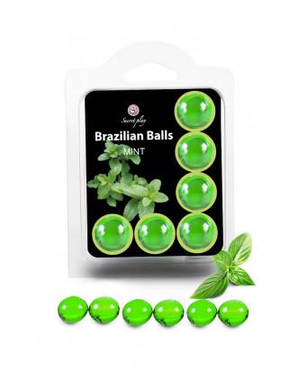 6 Brazilian Balls - menthe - Lubrifiants intimes