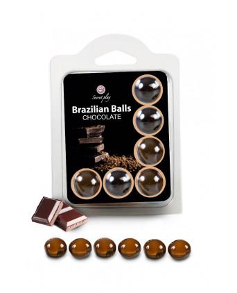 6 Brazilian Balls - chocolat - Lubrifiants intimes