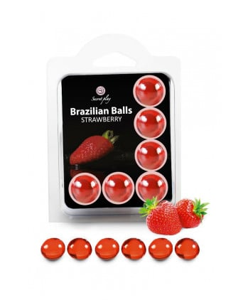 6 Brazilian Balls - fraise - Lubrifiants intimes
