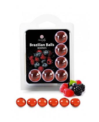 6 Brazilian Balls - baies rouges - Jeux coquins