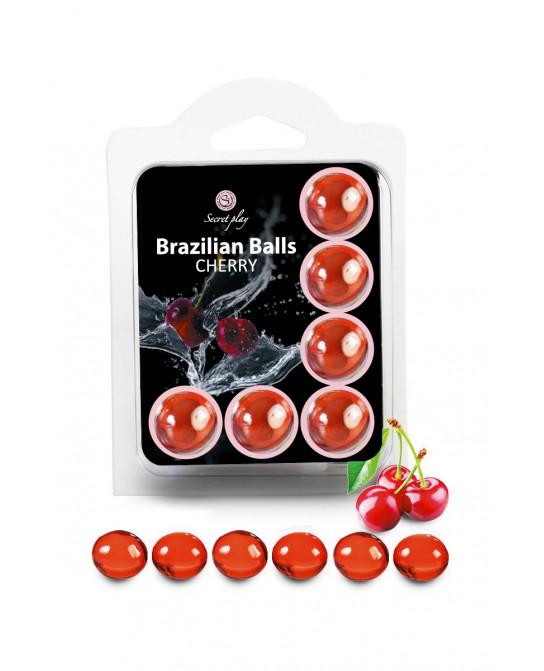 6 Brazilian Balls - cerise - Jeux coquins
