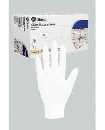 100 gants chirurgicaux en latex blanc - Hygiènes, poires lav.