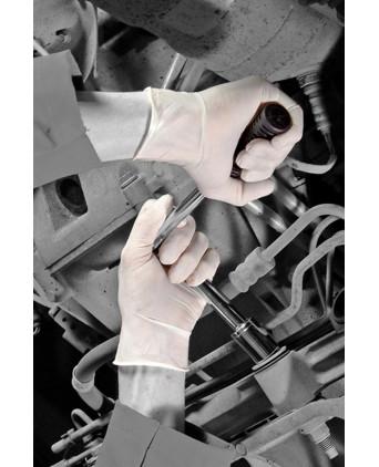 100 gants chirurgicaux en latex blanc - Gants chirurgicaux