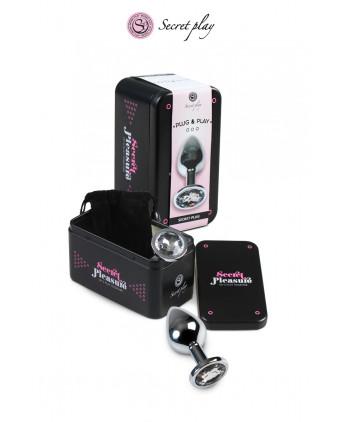 Plug aluminium M Transparent - Plugs , anus pickets