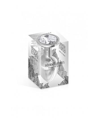 Plug bijou acier M 265gr - Hidden Eden - Bijoux intimes