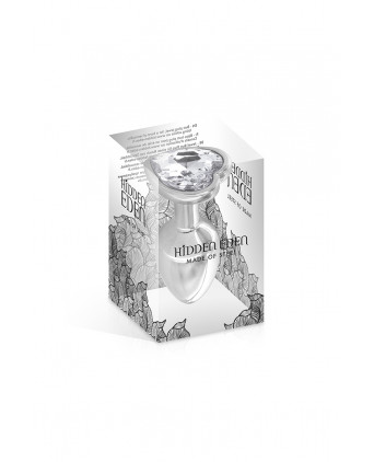 Plug bijou coeur aluminium S 53gr - Hidden Eden - Plugs , anus pickets