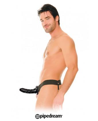 Gode-ceinture creux noir 15 cm - Godes ceinture