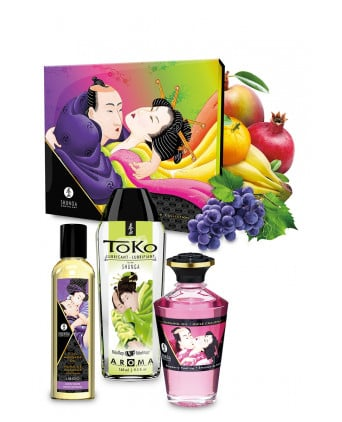 Coffret baisers fruités - Shunga - Massages érotiques