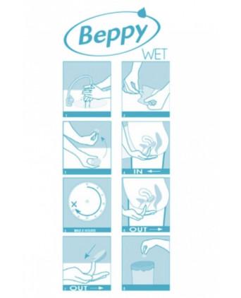 Boite 8 tampons Beppy WET - Hygiènes, poires lav.