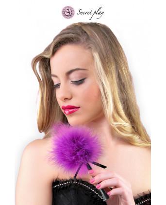 Plumeau 18 cm violet - Jeux coquins