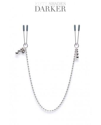 Pinces à tétons avec chaîne - Fifty shades darker - Pinces, poids