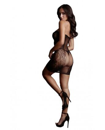 Mini robe résille strapless - Le Désir - Jupes sexy
