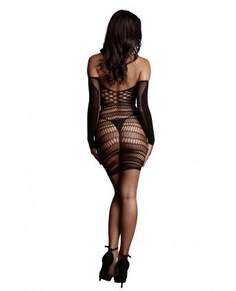 Mini robe décolletée manches longues - Le Désir - Body et top