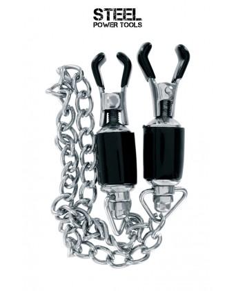 Pinces à seins avec chaine - Steel Power Tools - Pinces, poids