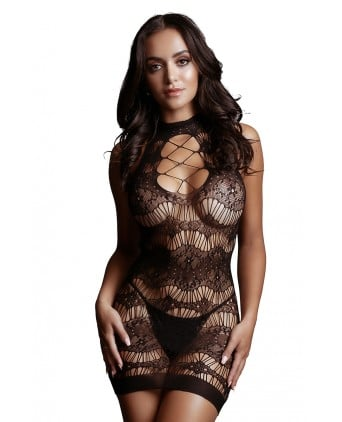 Mini robe résille Criss Cross - Le Désir - Body et top