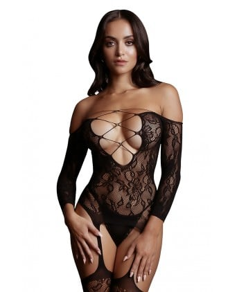 Combinaison jarretelles Criss Cross - Le Désir - Body et top