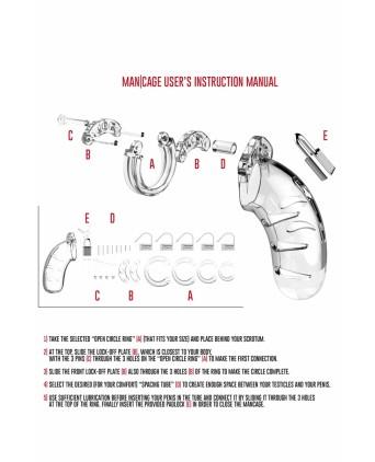 Cage de chasteté ManCage 04 - Attaches, contraintes