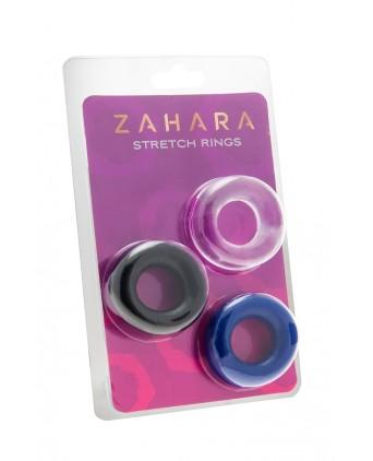 Set 3 Cockrings multicolore - Zahara - Anneaux péniens