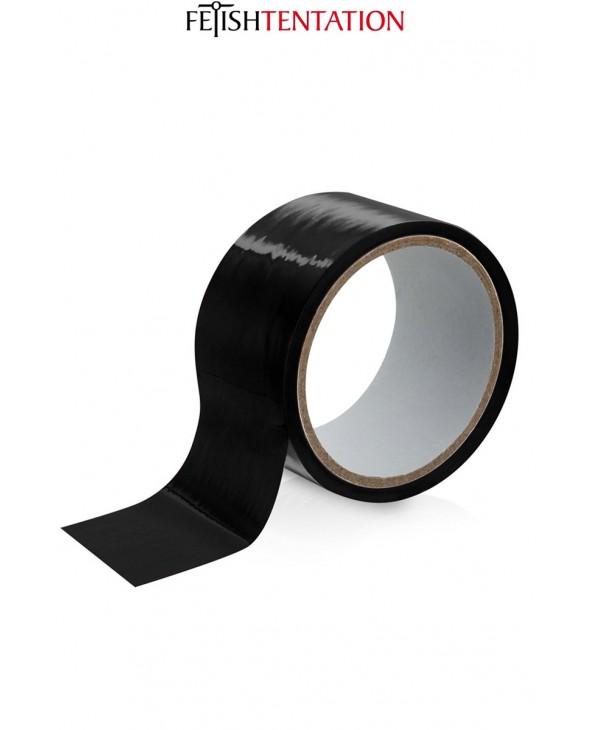Ruban de soumission noir 15m - Fétish Tentation - Attaches, contraintes