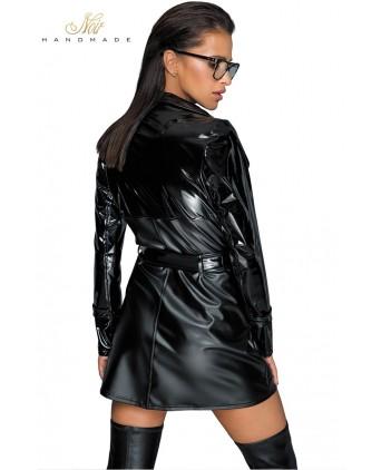 Trench coat wetlook et vinyle F225 - Lingerie femme