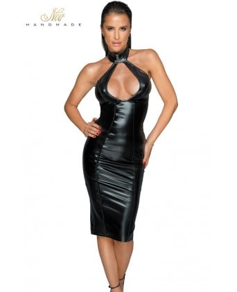 Robe wetlook décolletée F231 - Robes sexy