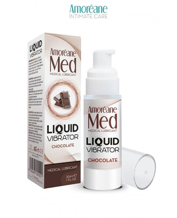 Lubrifiant Liquid Vibrator Chocolat 30ml - Amoreane Med - Lubrifiants base eau