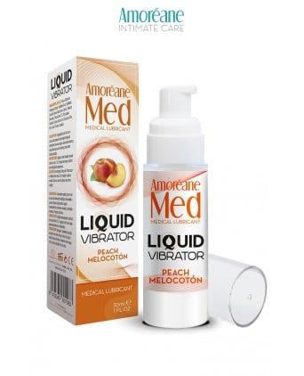 Lubrifiant Liquid Vibrator Pêche 30ml - Amoreane Med - Lubrifiants base eau