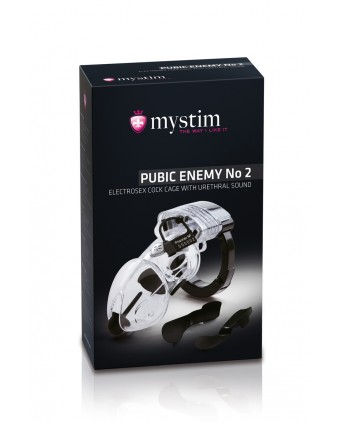 Cage pénis électro-stimulation Pubic Enemy N°2 - Mystim - Électro-stimulation