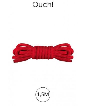 Mini corde de bondage 1,5m rouge - Ouch - Attaches, contraintes