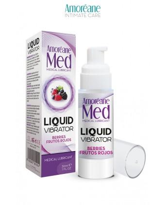 Lubrifiant Liquid Vibrator Baies Rouges 30ml - Amoreane Med - Import busyx