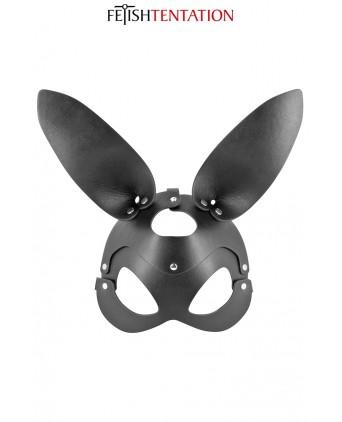 Masque bunny simili cuir réglable - Fetish Tentation - Cagoules, masques