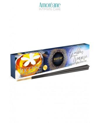 Encens aux pheromones Golden treasure - Amoreane - Bougies et senteurs