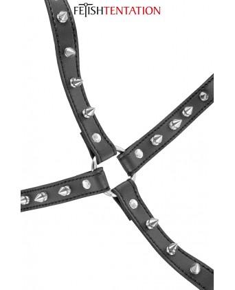Harnais poitrine à pointes - Fetish Tentation - Attaches, contraintes