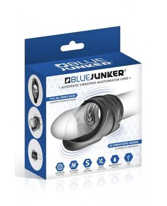Masturbateur vibrant USB Compact Lines - Blue Junker - Masturbateurs homme